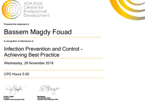 Infection Prevention and Control -achieving best practice Certificate-2